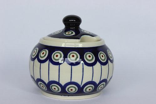 "Sugar bowl ""peacock eyes"""