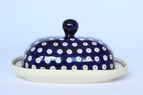 "Butter dish ""blue eyes"""