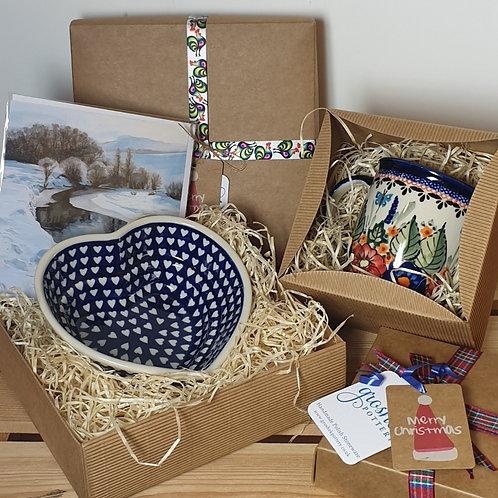 Mug gift box and card