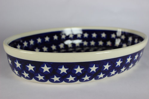 "Oval baking dish - small ""stars"""