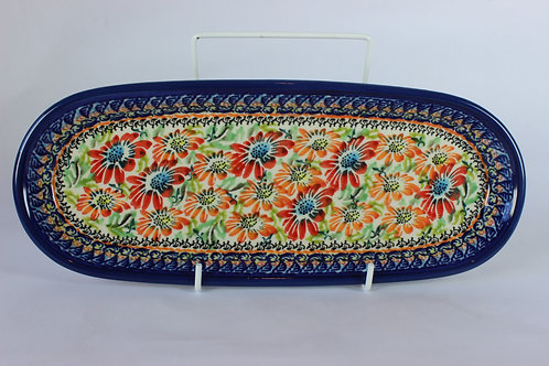 "Biscuit tray ""orange flowers"" (UNIKAT)"