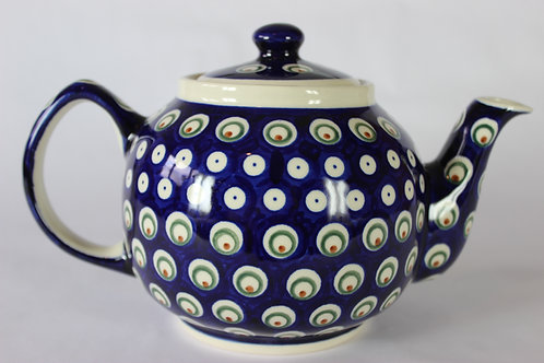 "Teapot 1l ""peacock and blue eyes"""