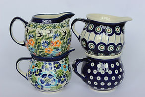 Polish Pottery Creamers Milk Jugs