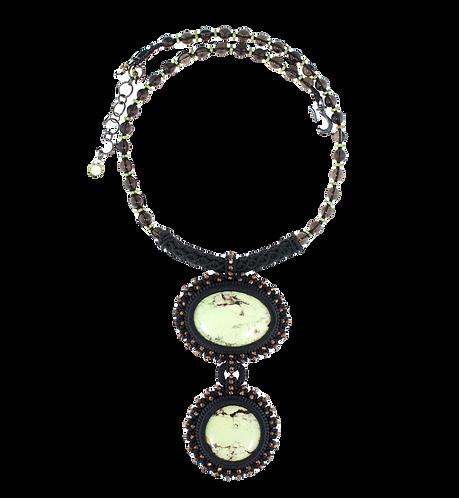Lemon chrysoprase statement necklace