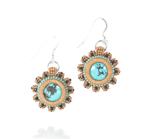 Turquoise and Crystal Earring