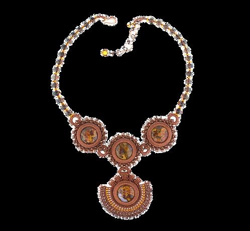 Moroccan seam agate statement necklace