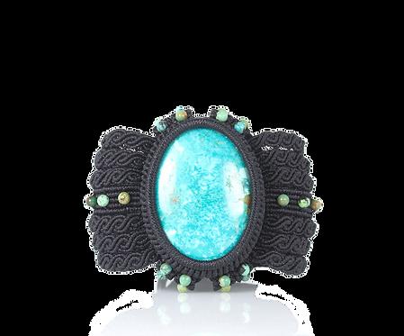 Blue turquoise cuff bracelet