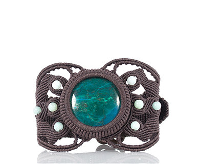 Peruvian chrysocolla bracelet
