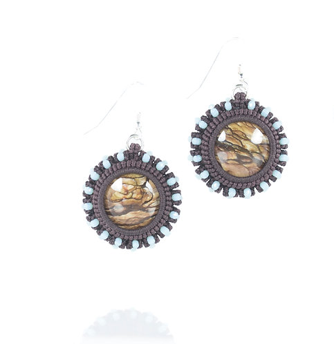 Biggs jasper and Swarovski earrings