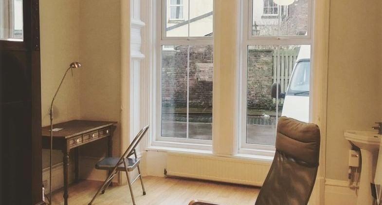treatment room - pre window screen