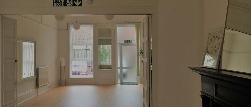 Studio from bay window