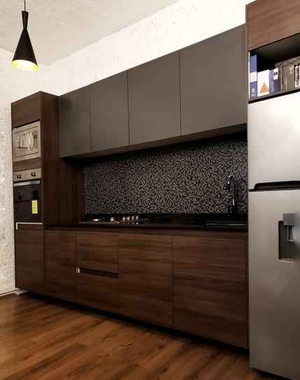 Cocina muestra granito negro san gabriel