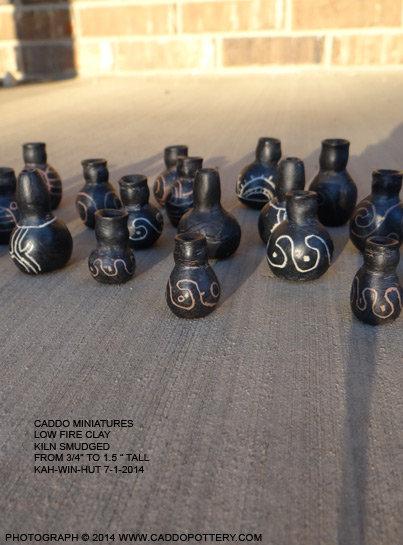 Miniature Caddo Pots Arrangement