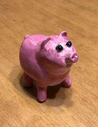 Pig Effigy, glazed