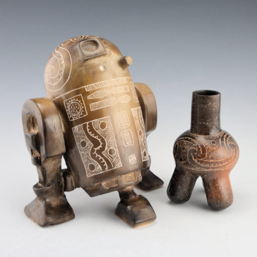 """""""The Messenger"""" and """"Traditional Caddo Tripod Bottle"""""""