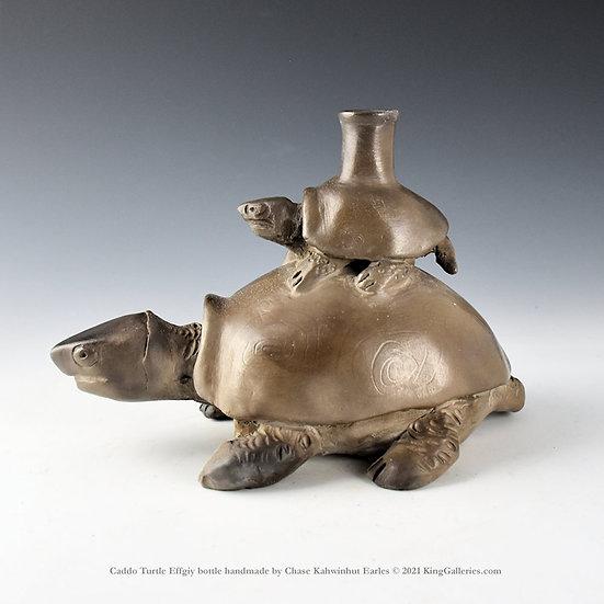 Caddo Turtle and Baby Effigy Bottle