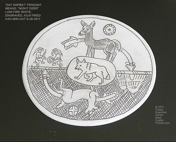 Dag-Nap-bak Gorget plaque (Story of Night and Day)