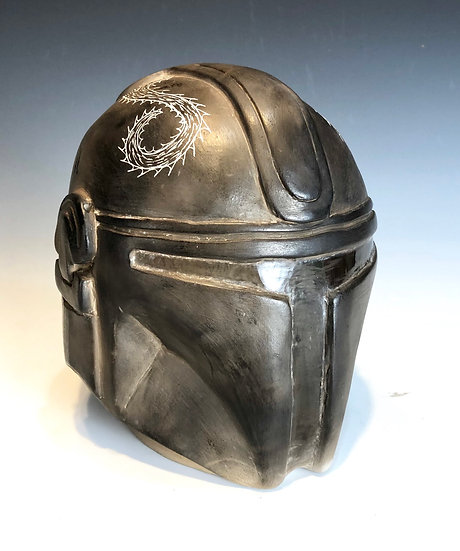 Mandalorian Effigy Head Pot