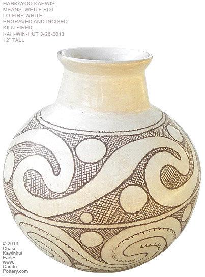 Contemporary White Caddo Pot