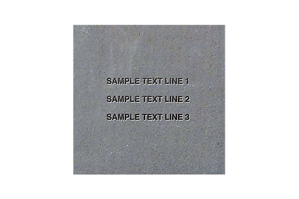 Engraved 12x12 Bluestone