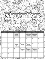 Ridge School Fall Calendar