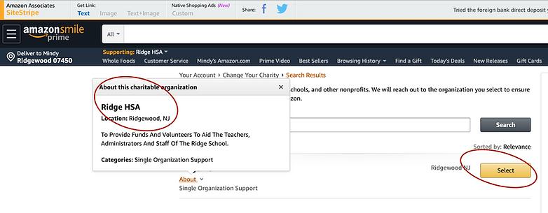 AmazonSmile on Web browser