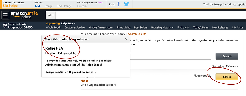 AmazonSmile on Web browser