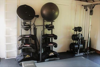 Sandbags | BOSU | Exercise Ball | Weight Plates | Barbell | Bench | Studio