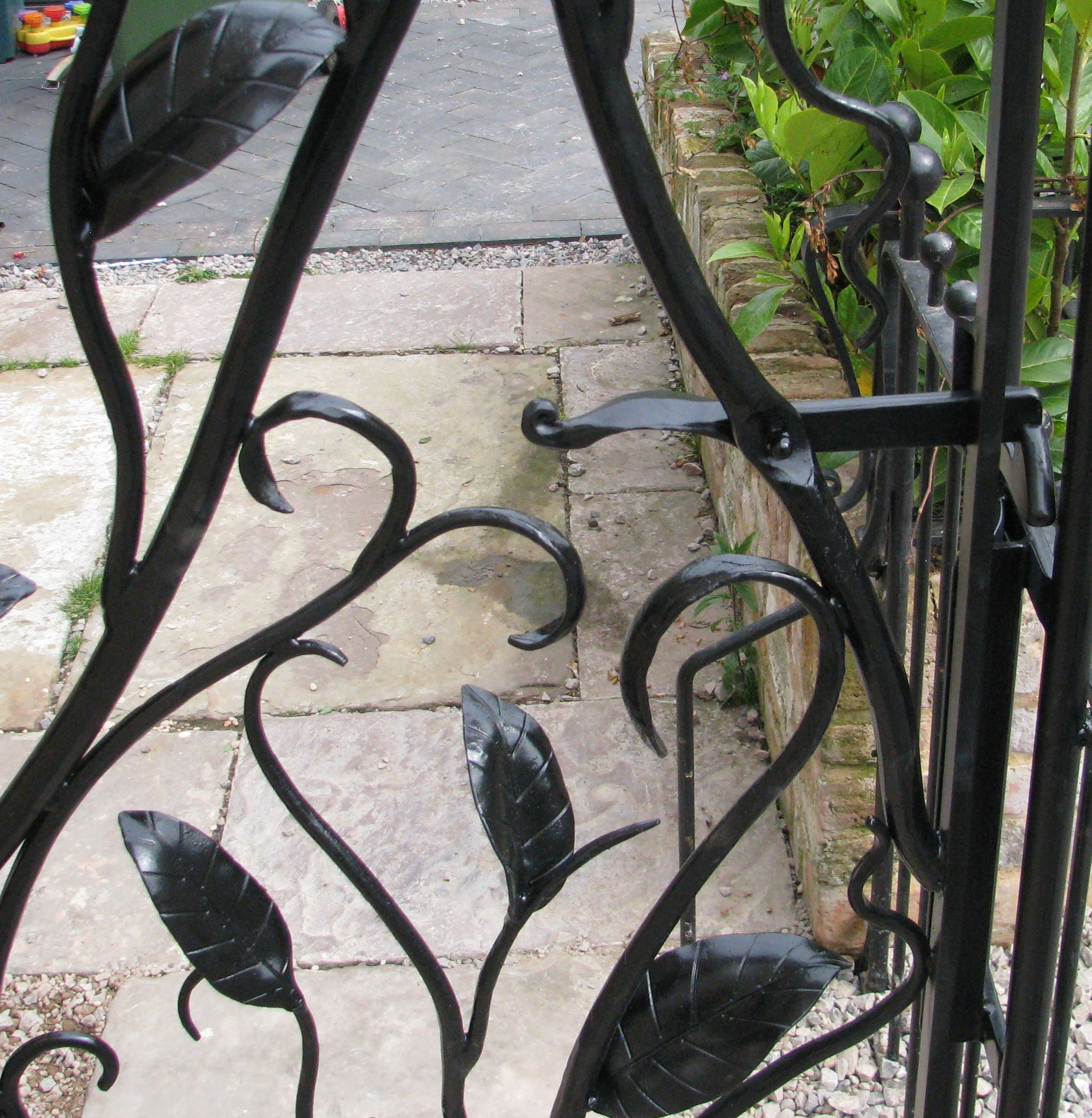 Leaf garden gate detail