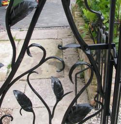 Leaf garden gate detail