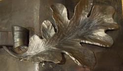 Oak leaf fire grate detail