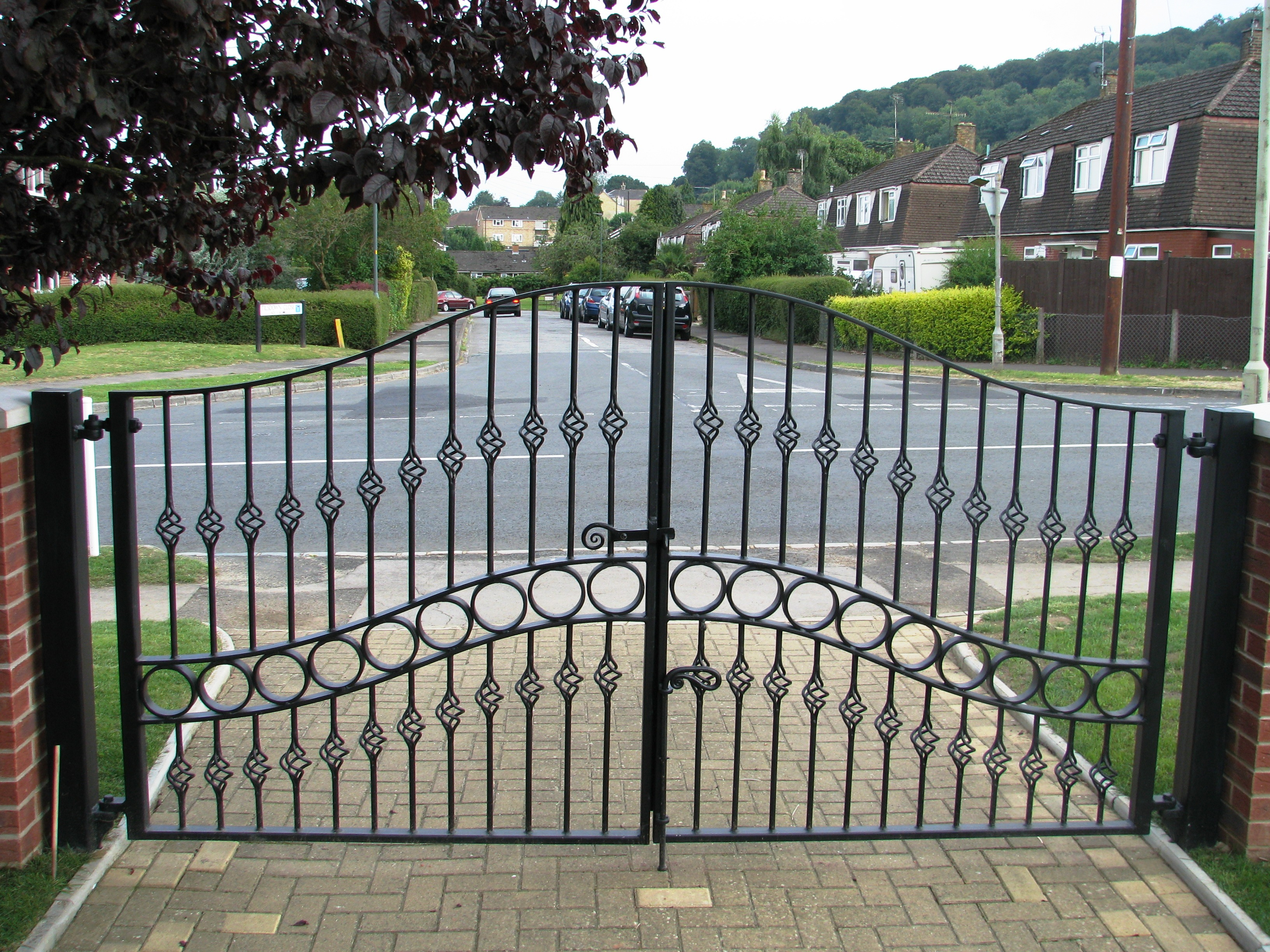 blacksmith forged gates