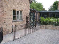Leaf garden gate and archway