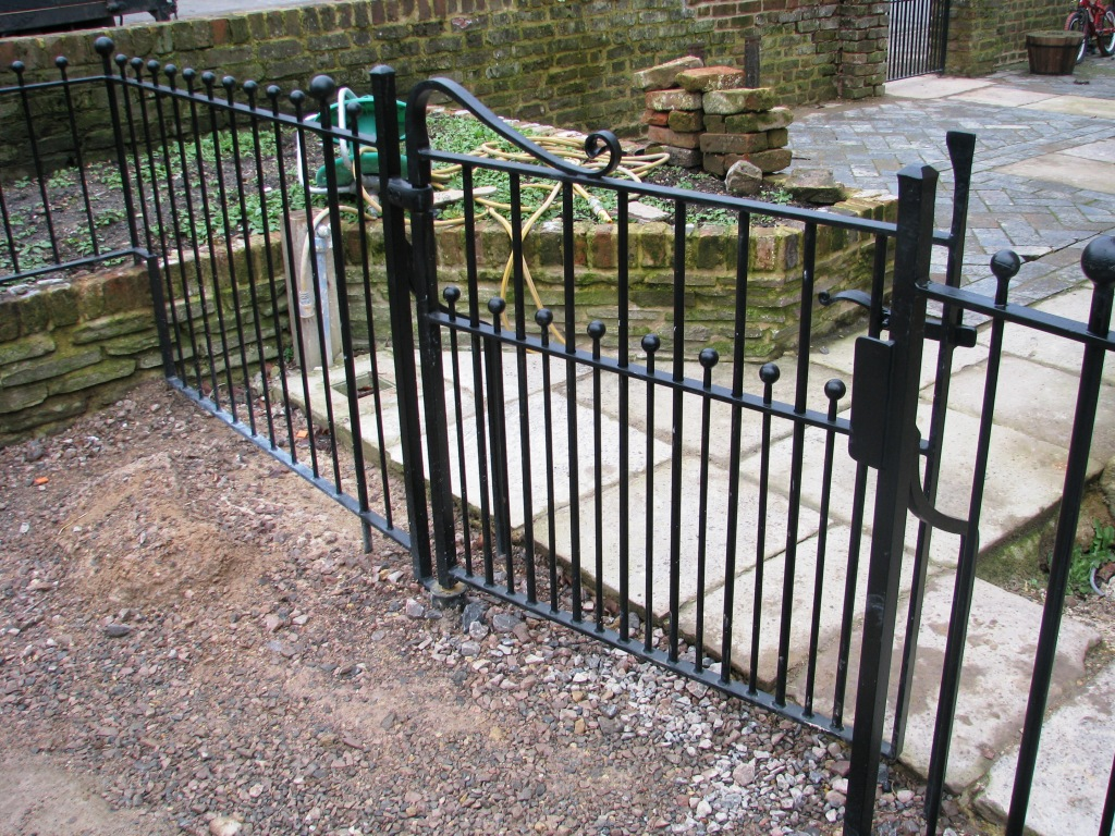 Blacksmith forged railings gate