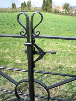 Estate railing double gate detail