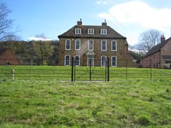 Estate railing double gate