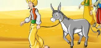 Métaphore : le père, l'enfant et l'âne