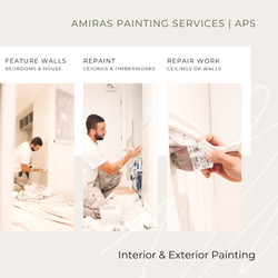 Feature walls Repaint Repair work