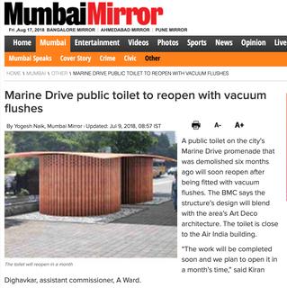 Mumbai Mirror on Marine Drive Toilet
