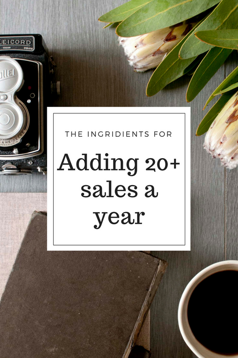 Adding 20+ Sales a Year Is Simple. Here Are The Steps