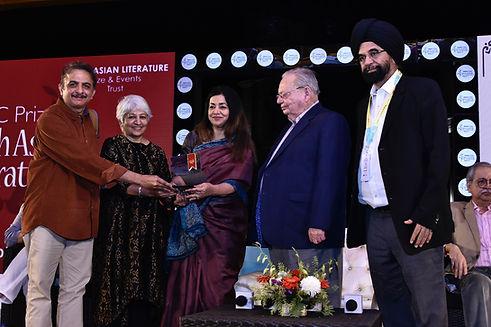 Author Jayant Kaikini and translator Tej