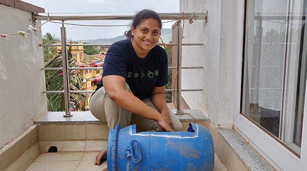 Saritha Sudhakaran of Waste Less Project, Image Source: Herald Goa