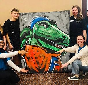Evan Struck Speed Painting Corporate Events