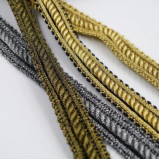 7916 15mm Metallic Braid with Cord Centre