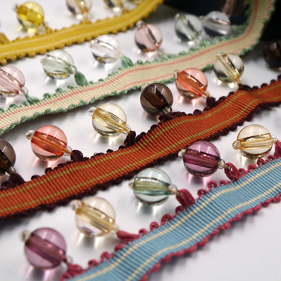 6176 Multi coloured Beaded Fringe