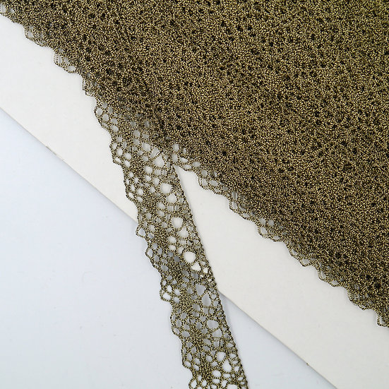 6537 23mm Old Gold Metallic Lace