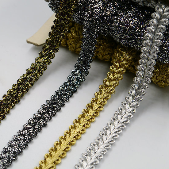 7701 10mm Metallic 'feather' Braid