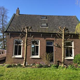 Woning voorzien van nieuwe ramen