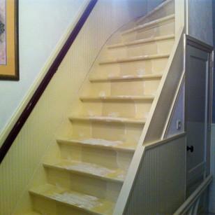 Onveilige trap zonder leuning