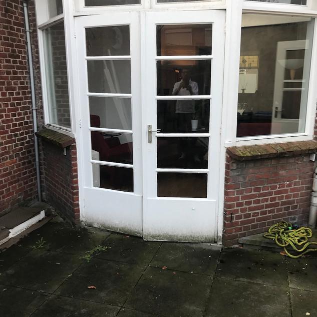 Oude terrasdeur om te vervangen